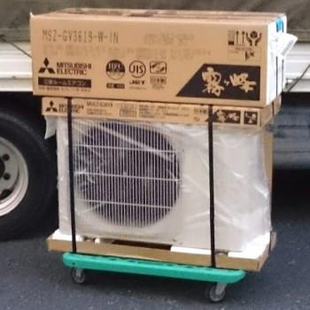 店頭買取で三菱電機のルームエアコン【新品】を買取しました。
